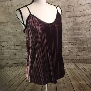 Jasmine and Juliana Purple Velvet feel tank
